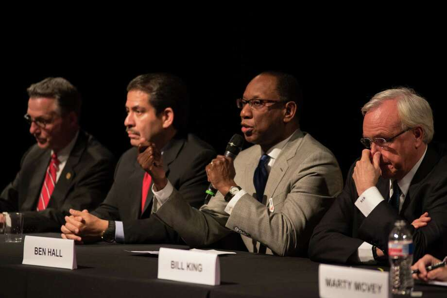 Ben Hall at the Mayoral Forum focused on Arts and Culture on June 3, 2015 at the Asia Society Texas in Houston, TX. Photo: Jamaal Ellis, For The Chronicle / ©2015 Houston Chronicle