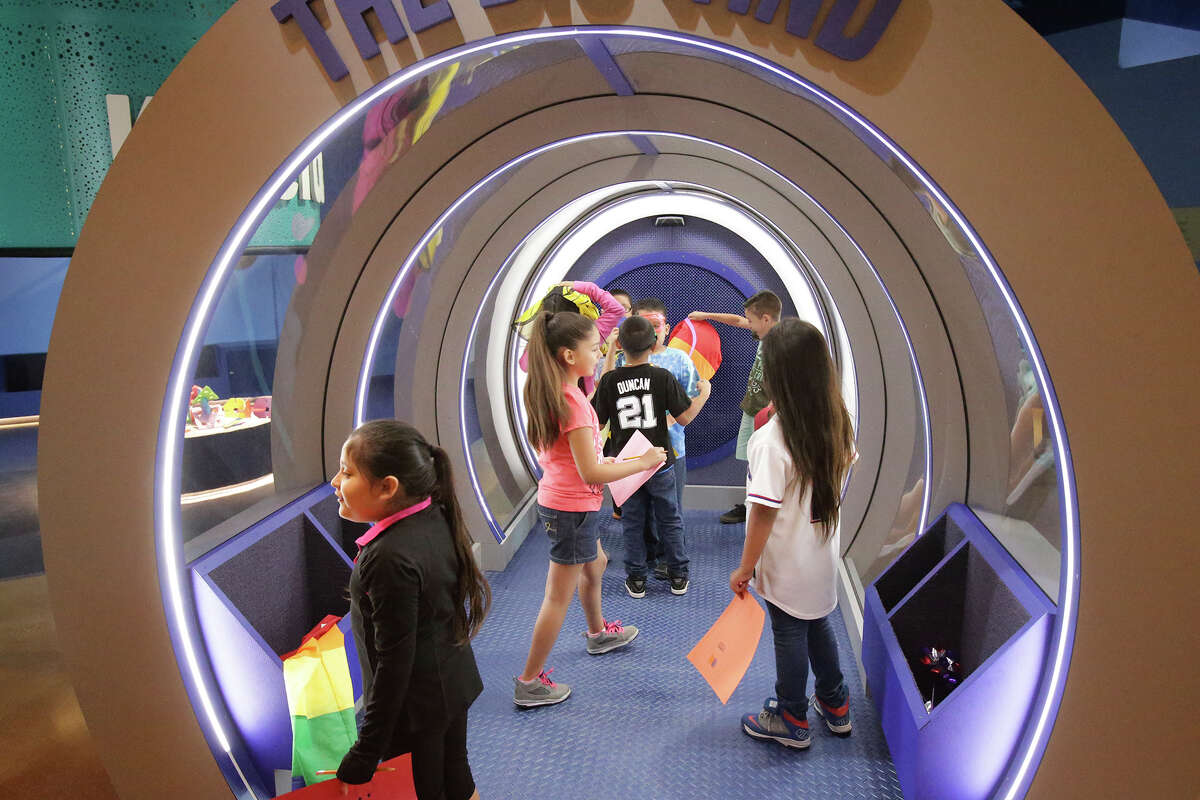 """Kids experience """"The Big Wind"""" feature as the DoSeum prepares for its grand opening with last minute adjustments and early tours."""