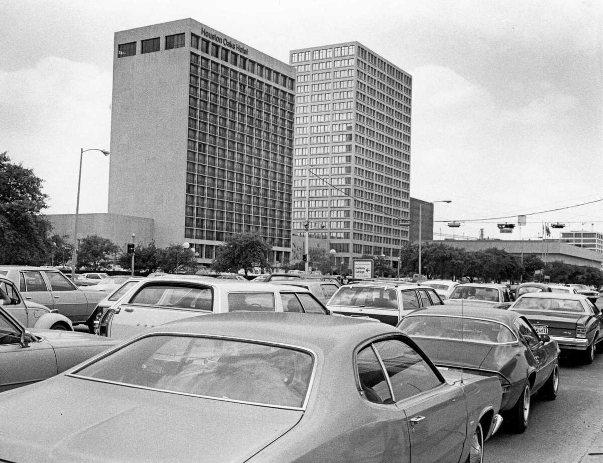 05/26/1979 - Traffic on Westheimer approaches the intersection of Post Oak Blvd. and the Galleria shopping complex.