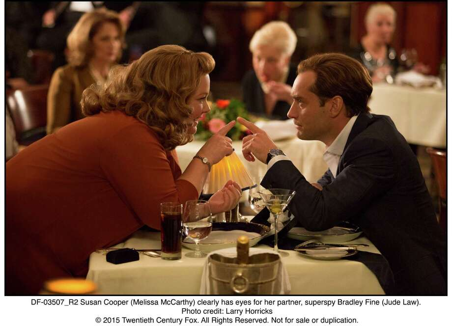 """Melissa McCarthy and Jude Law star in """"Spy."""" Photo: Photo Credit: Larry Horricks / © 2015 Twentieth Century Fox. All Rights Reserved. Not for sale or duplication."""