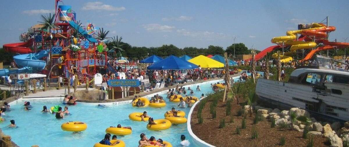 BAHAMA BEACH Dallas TX Total water attractions: 9 Water slides: 6 Tallest slide: 45 feet Admission: $11 or $15 bahamabeachdallas.com