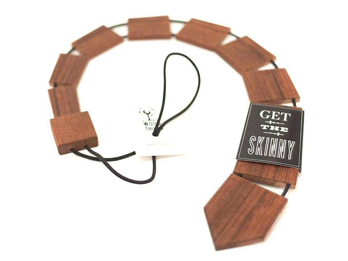 Wood Thumb offers products made from reclaimed wood in the their factory store at 354 5th St. (Pictured: Skinny tie, $46.95)