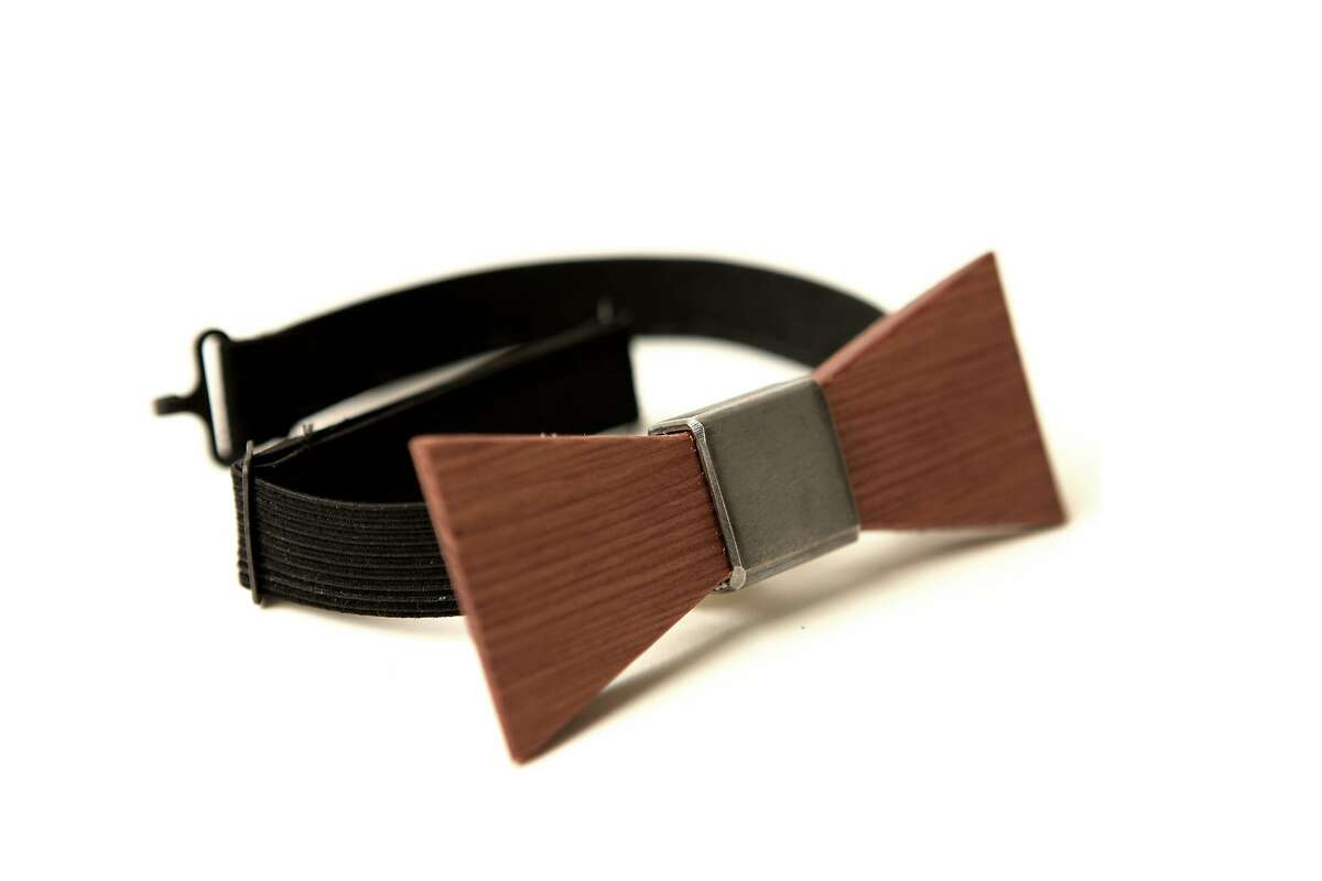 Wood Thumb offers products made from reclaimed wood in the their factory store at 354 5th St. (Pictured: Bow tie, $35.95)