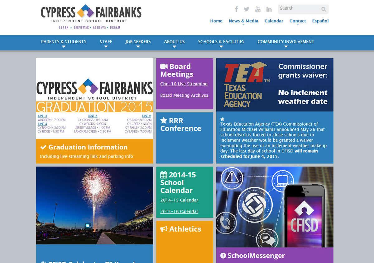 1. Cypress-Fairbanks ISD Alcohol Incidents: 56 Source: Texas Education Agency Disciplinary Data