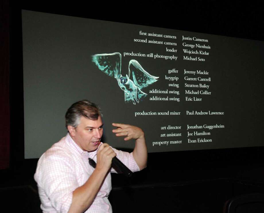 """""""WildLike"""" director Frank Hall Green speaks as part of the Q & A after the sceeening of his film during the Greenwich International Film Festival at the Bow Tie Cinemas on Railroad Avenue in Greenwich, Conn., Thursday, June 4, 2015. Photo: Bob Luckey / Greenwich Time"""
