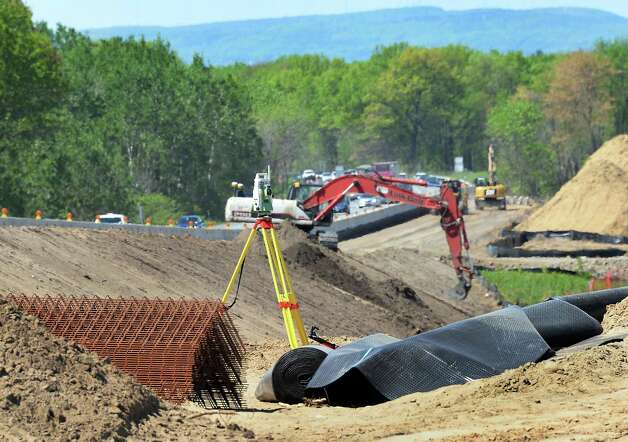Work continues on the Northway Exit 4 bridge project Thursday May 14, 2015 in Colonie, NY.  (John Carl D'Annibale / Times Union archive) Photo: John Carl D'Annibale / 00031798A