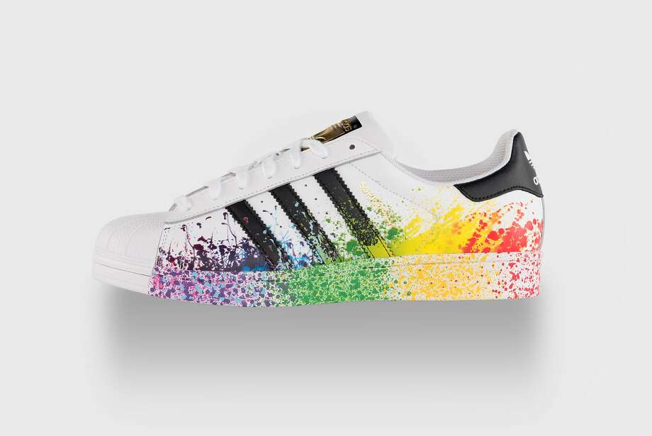 The Adidas Pride Pack Superstar 80s sneaker, $100, available in select stores and at www.adidas.com.