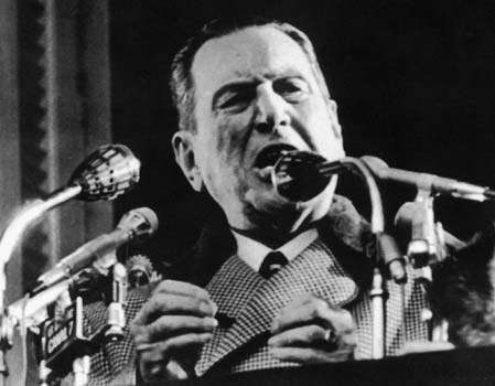 In 1949, President Juan Perón singed a bill granting control to YPF over all of Argentina's oil industry. But turmoil in the inudstry over the next decade led to the revocation of that bill 1956, then a renationalization by 1958. Photo: EL DIA DE LA PLATA, AFP/Getty Images / AFP