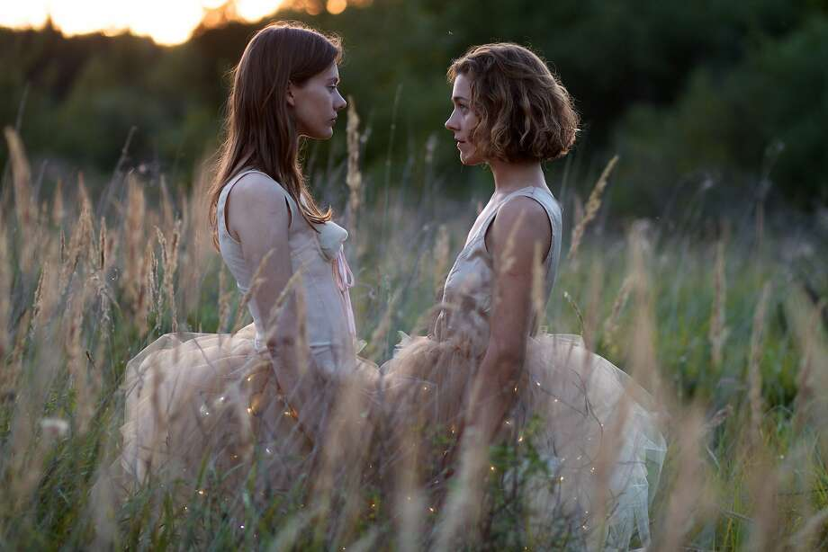 "Julija Steponaityte (left) and Aiste Dirzuite portray young women who are drawn together  in ""The Summer of Sangaile."" Photo: Frameline"