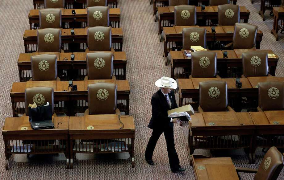 "Rep. Charles ""Doc"" Anderson, R-Waco,  leaves the House Chamber after the Legislature adjourned on the final day of the  session in the House Chamber at the Texas Capitol Monday in Austin, Texas. (AP Photo/Eric Gay) Photo: Eric Gay, STF / AP"