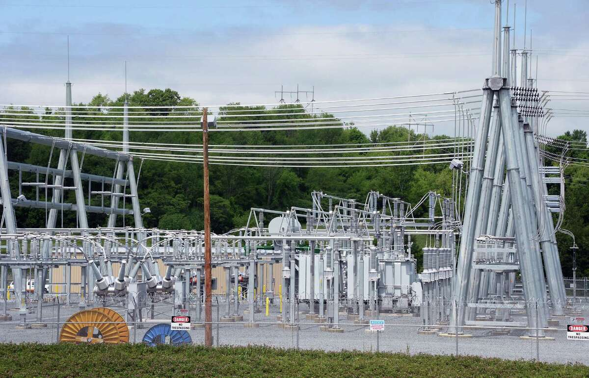 National Grid's Eastover electric sub station Thursday June 4, 2015 in Speigletown, NY. (John Carl D'Annibale / Times Union)