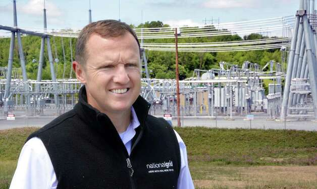 Ken Daly, National Grid President, New York State during ceremonies to officially open National Grid's Eastover electric sub station Thursday June 4, 2015 in Speigletown, NY.   (John Carl D'Annibale / Times Union) Photo: John Carl D'Annibale / 00032126A