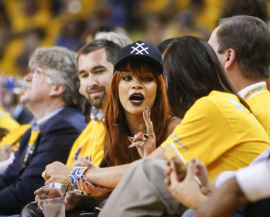 Rihanna is seen at Game 1 of The NBA Finals between the Golden State Warriors and the Cleveland Cavaliers on Thursday, June 4, 2015 in Oakland, Calif. Photo: Scott Strazzante, The Chronicle