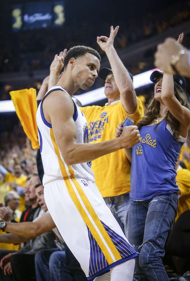 Golden State Warriors' Stephen Curry reacts in the second period  during Game 1 of The NBA Finals on Thursday, June 4, 2015 in Oakland, Calif. Photo: Scott Strazzante, The Chronicle