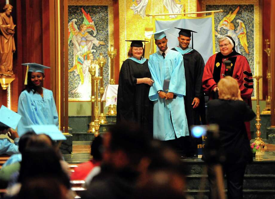Kolbe Cathedral's Class of 2015 Commencement Exercises at St. Augustine Cathedral in Bridgeport, Conn., on Thursday June 4, 2015. Photo: Christian Abraham / Connecticut Post