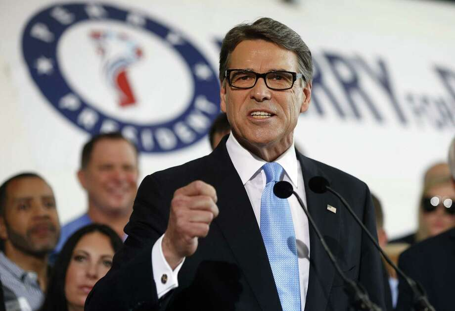 Former Texas Governor Rick Perry spoke to supporters after announcing that he his run for president on June 4, 2015 in Dallas. Photo: Ron Jenkins, Getty Images / 2015 Getty Images
