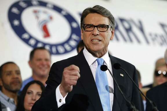 DALLAS, TEXAS - JUNE 4:  Former Texas Governor Rick Perry speaks to supporters after announcing that he will run for president in 2016 June 4, 2015 in Dallas, Texas. Rick Perry is the tenth Republican to join the race for president in 2016, and also ran for the presidency in 2012.