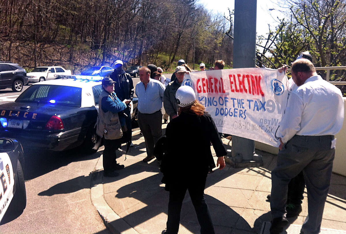 Protesters converged on GE Capital's Norwalk offices in April 2012 to protest GE tax policies. On June 4, 2015, GE CEO Jeff Immelt cited increased taxes in Connecticut in mulling other locales for GE's headquarters.