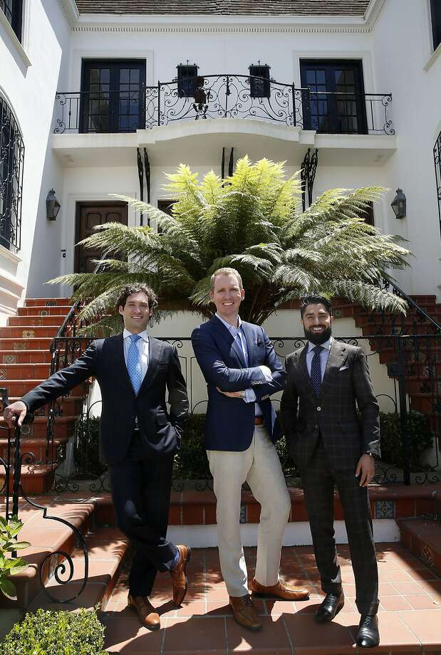 "Realtors Justin Fichelson (left), Andrew Greenwell (middle), and Roh Habibi (right),  talk about starring on ""Million Dollar Listing SF"", a reality show series starting next month in San Francisco, California, on Thursday, June 4, 2015. Photo: Liz Hafalia, The Chronicle"