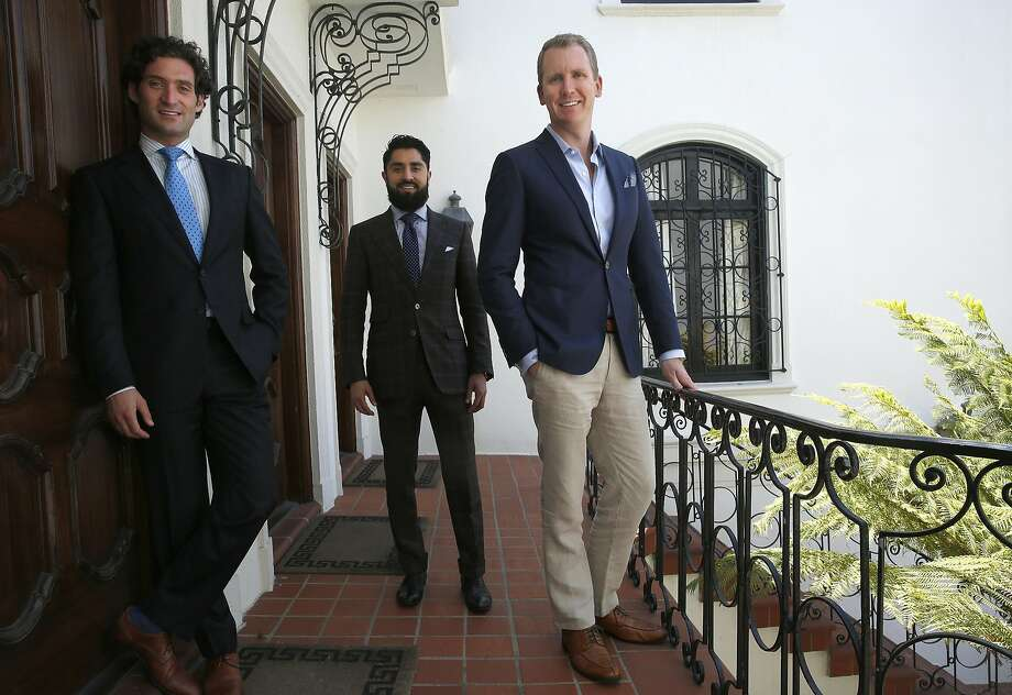 "Justin Fichelson (left), Roh Habibi and Andrew Greenwell are the agents in Bravo's ""Million Dollar Listing San Franciso."" Photo: Liz Hafalia, The Chronicle"