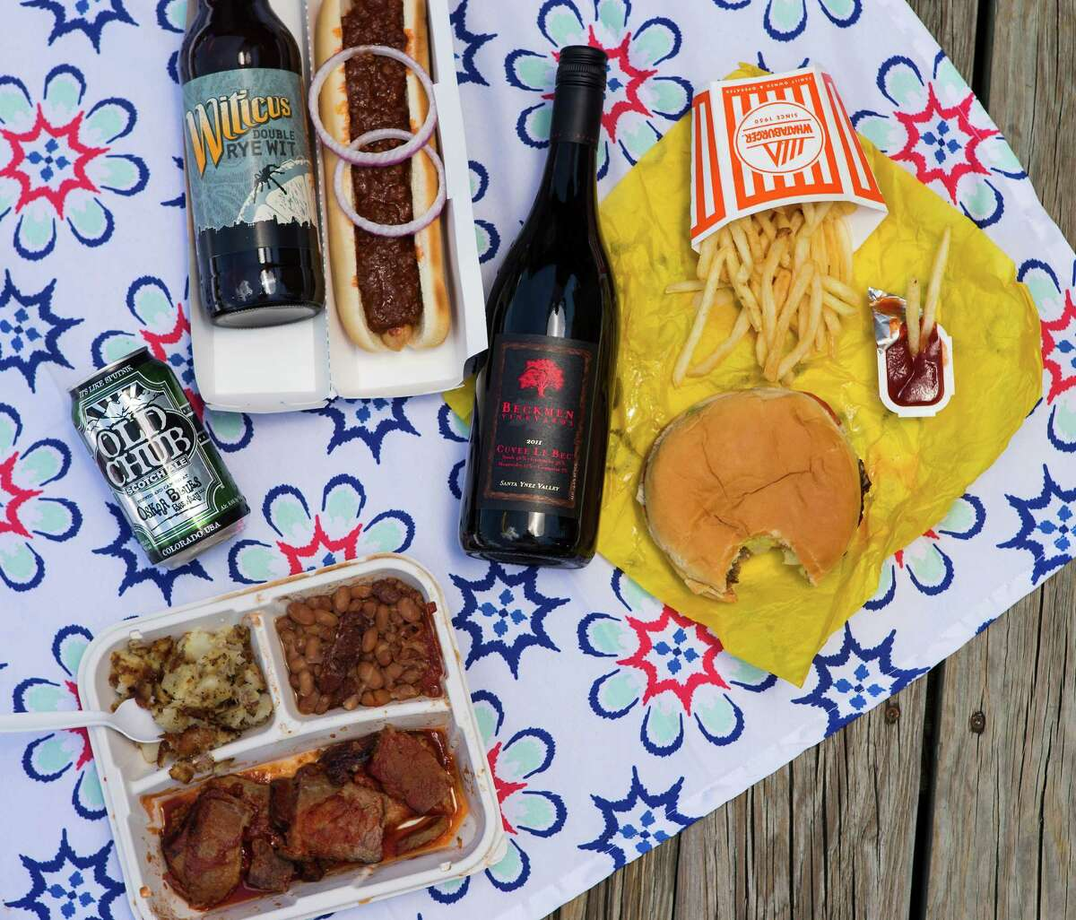Pair your fast food with some classy wines and beers.
