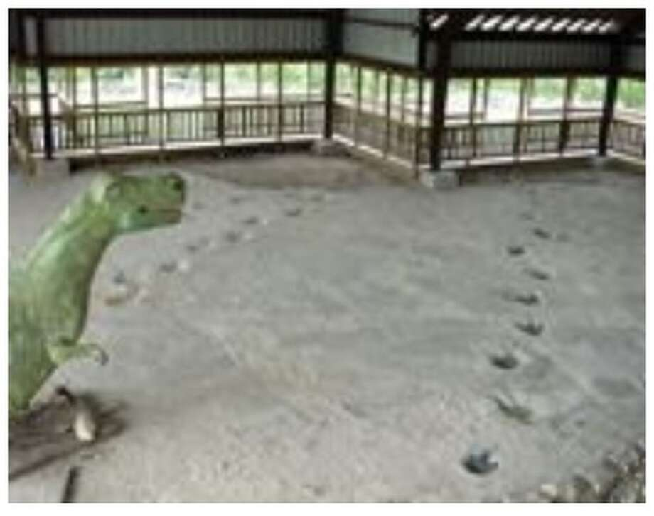 Dinosaur tracks at The Heritage Museum of the Texas Hill Country. (Image from website used with permission from The Heritage Museum of the Texas Hill Country.) Photo: Screenshot