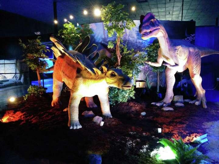 Jurassic Jungle Dinosaurs At San Antonio Aquarium