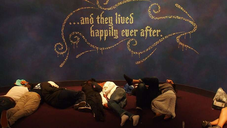 The Disney Animation lounge turns into a makeshift, after-hours slumber party during the 24-hour event. Photo: Spud Hilton