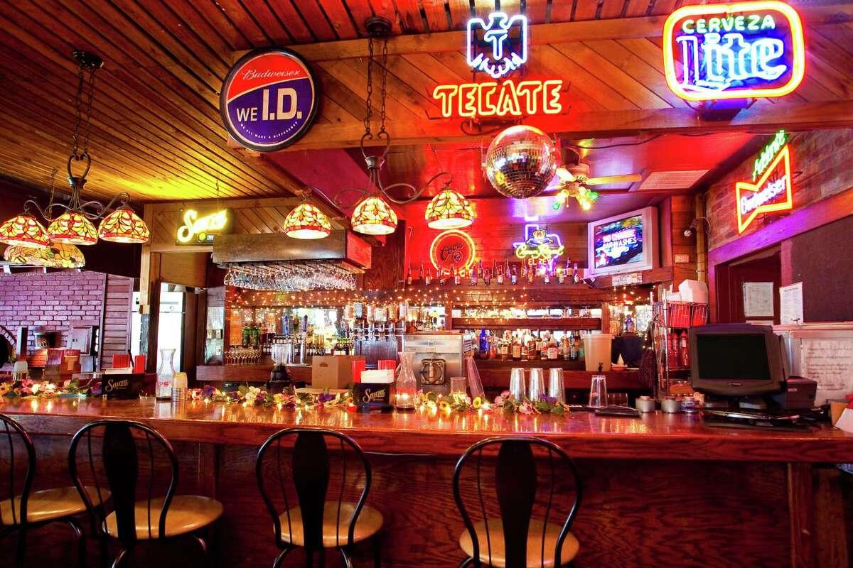The bar at Jacala Mexican Restaurant.