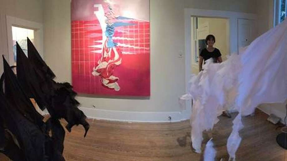 """An installation view of Casey Arguelles Gregory's """"A Battle of Ideas."""" Photo: Courtesy /Casey Arguelles Gregory"""