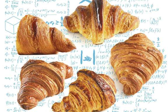 Our favorite croissants, clockwise from upper left: 1. Neighbor Bakehouse, 2. Tartine, 3. Fournée Bakery, 4. b. patisserie, 5. Mr. Holmes Bakehouse.