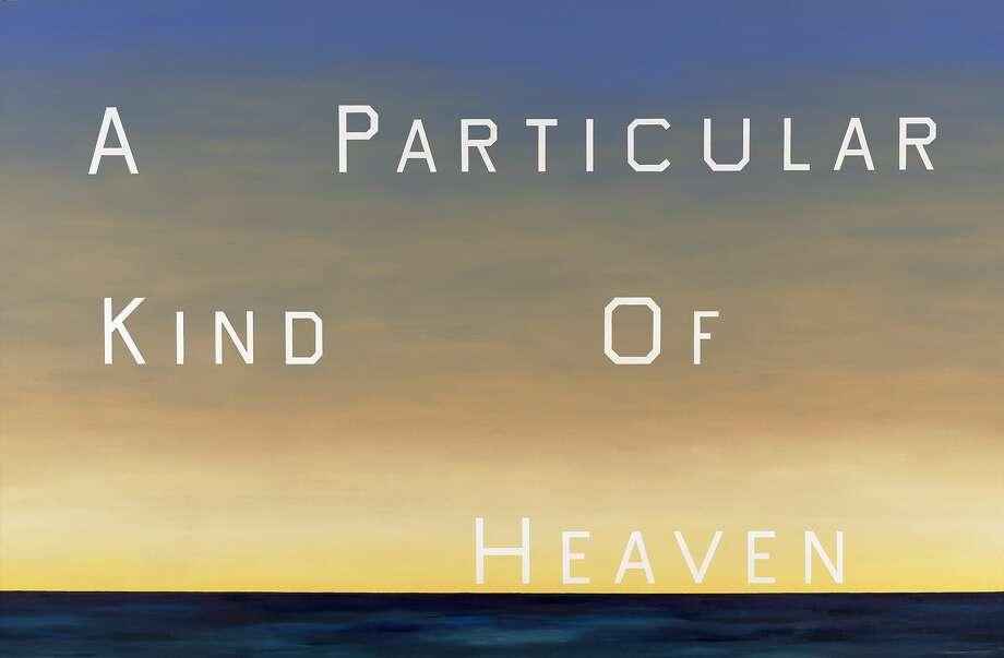 "Ed Ruscha's ""A Particular Kind of Heaven,"" 1983, oil on canvas. Photo: Ed Ruscha"