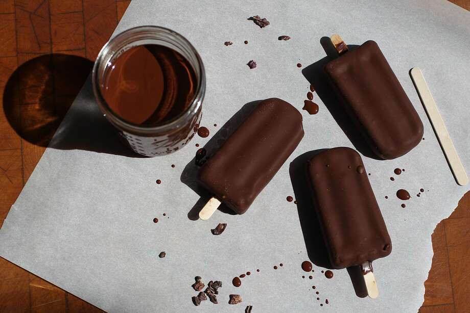 Chocolate gelato bars prepared by Amy Machnak are seen in her San Francisco home Friday, June 5, 2015. Photo: Loren Elliott, The Chronicle