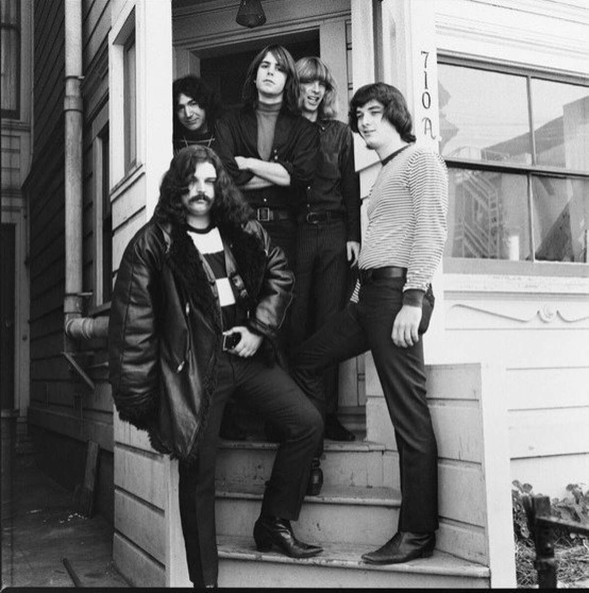 The Grateful Dead at their shared living space at 710 Ashbury St. The Grateful Dead Photo credit: Herb Greene
