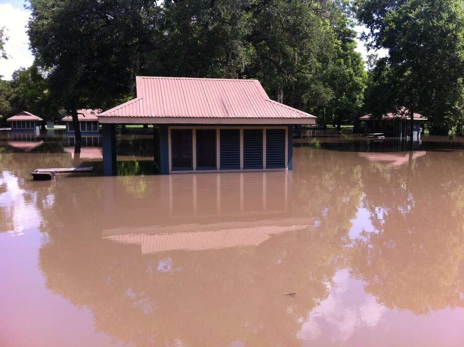 Screened shelters in the camping area of Brazos Bend State Park are flooded, as are many other areas of the park. Photo: Needville ISD