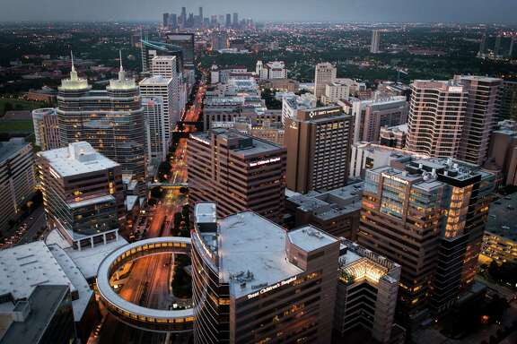 The Texas Medical Center in Houston, with Texas Children's Hospital in the foreground. ( Smiley N. Pool / Houston Chronicle )