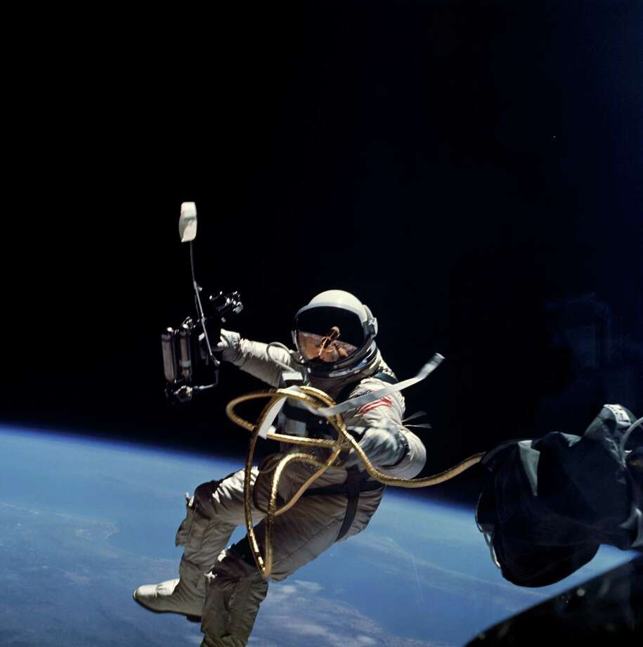Ed White was the first American astronaut to walk in space during the Gemini 4 mission in 1965. (NASA)