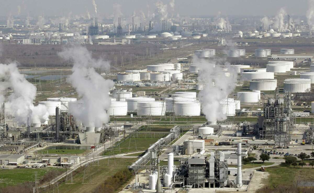 Refineries along the Houston Ship Channel and elsewhere soon will begin fall maintenance that could cut U.S. crude oil demand by 1.3 million barrels a day. (AP Photo/David J. Phillip, File)