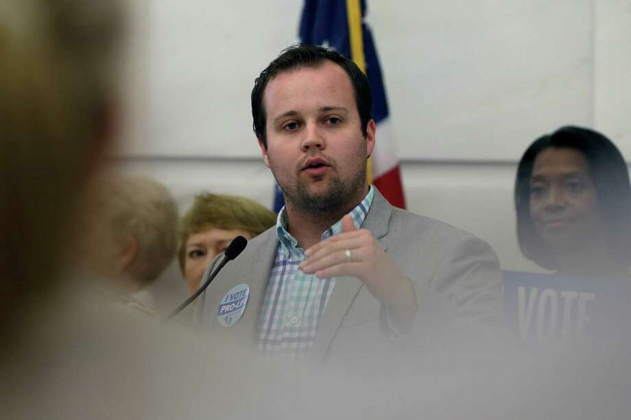 FILE - In this Aug. 29, 2014 file photo, Josh Duggar, executive director of FRC Action, speaks in favor the Pain-Capable Unborn Child Protection Act at the Arkansas state Capitol in Little Rock, Ark. Two of reality TV's Duggar sisters, Jill and Jessica Duggar, fondled by Josh Duggar say they weren't aware it had happened until he confessed and their parents told them about it.  They talked about it with Fox News Channel's Megyn Kelly in an interview set to air Friday night, June 5, 2015. (AP Photo/Danny Johnston, File) Photo: Danny Johnston, STF / AP