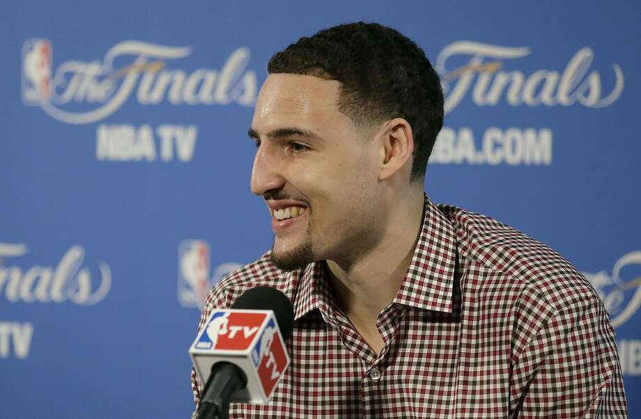 """Warriors guard Klay Thompson: """"This is the biggest stage I've ever been on."""" Photo: Ben Margot, Associated Press"""