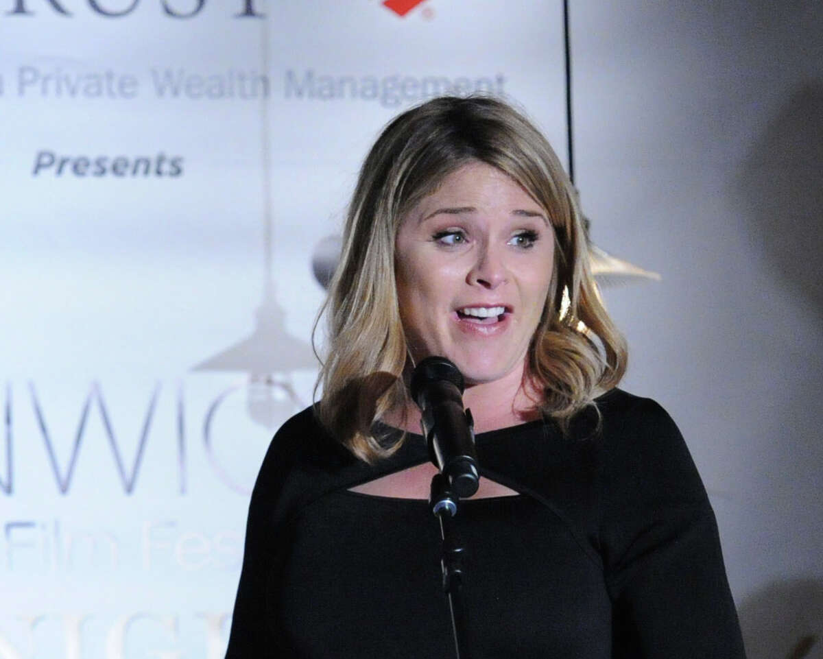 Jenna Bush spoke during the opening night party for the Greenwich International Film Festival at Restoration Hardware on Greenwich Avenue, Greenwich, Conn., Friday night, June 5, 2015.