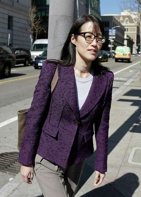 Ellen Pao leaves the Civic Center Courthouse during a lunch break in her trial Tuesday, Feb. 24, 2015, in San Francisco. Pau, the current interim chief of the news and social media site Reddit, is seeking $16 milion in her suit against prominent Silicon Valley venture capital firm Kleiner Perkins Caulfield and Byers, alleging she was sexually harassed by male officials. (AP Photo/Eric Risberg) Photo: Eric Risberg, STF / AP
