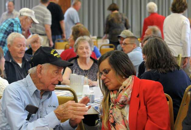 A 71st anniversary of D-Day welcome was held and open to all to honor those who serve and served at Colonie Elks Lodge on Saturday June 6, 2015 in Colonie , N.Y.  (Michael P. Farrell/Times Union) Photo: Michael P. Farrell / 00032102A