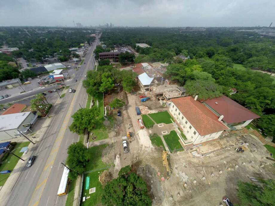 Major sections of the Witte Museum have been removed, as seen in a Thursday, May 28, 2015, aerial photo taken with a remote control quadcopter,. so that the museum can undergo a multi-part renovation and expansion. Broadway is seen on the left side of the image. Photo: William Luther /San Antonio Express-News / © 2015 San Antonio Express-News