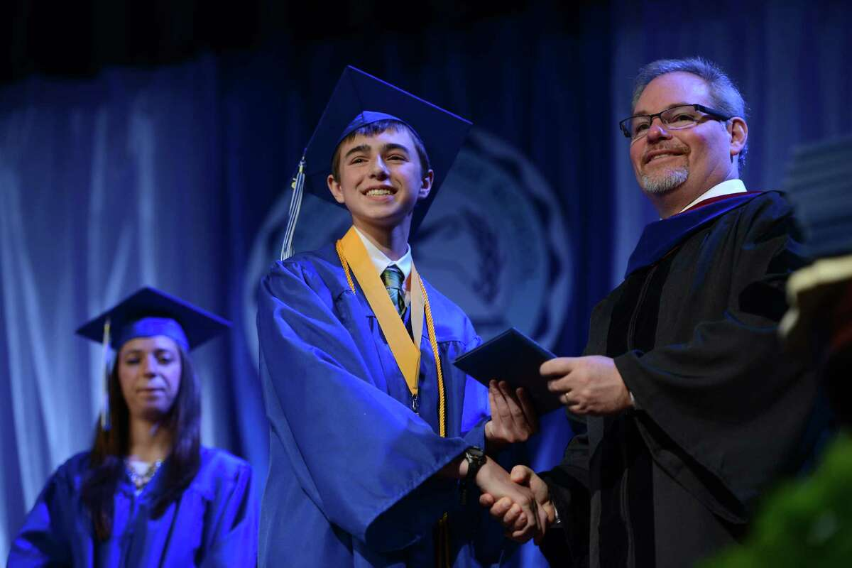 Christian Heritage School holds its 32nd commencement exercises Saturday, June 6, 2015 at the school in Trumbull, Conn.