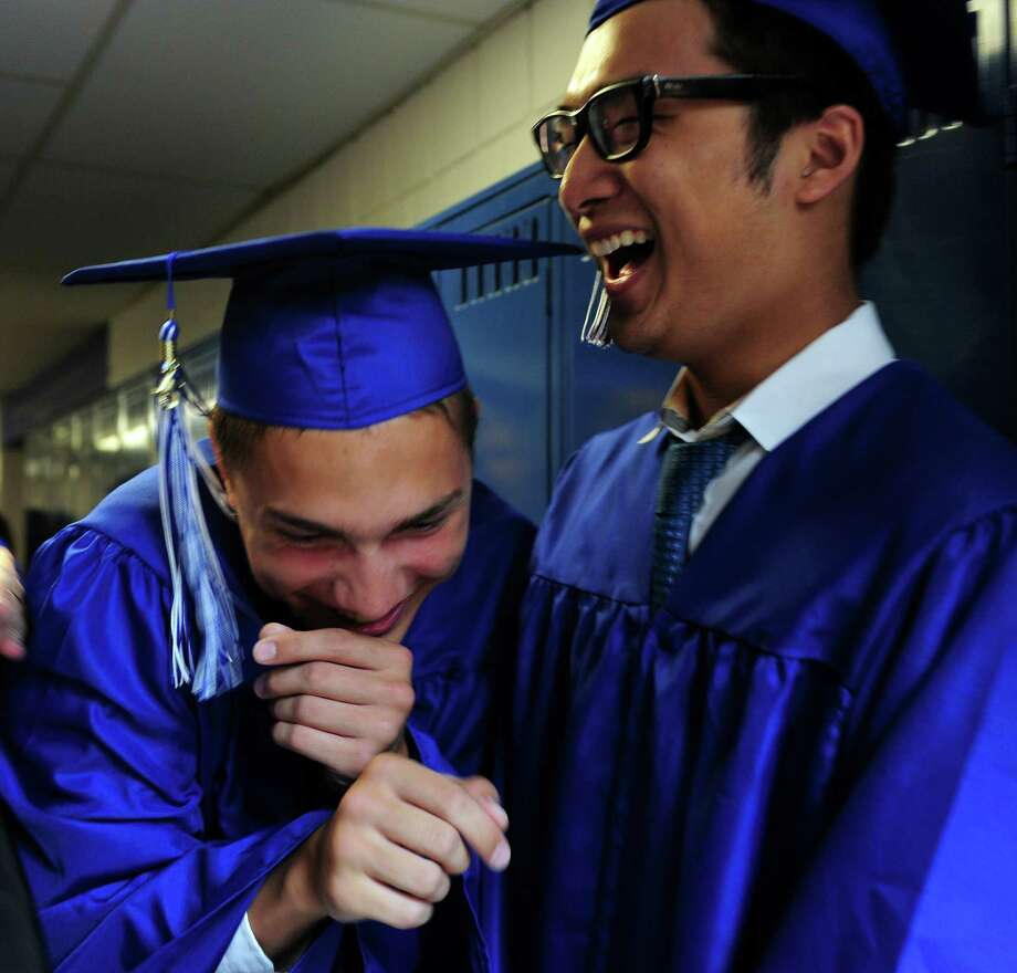 Christian Heritage School holds its 32nd commencement exercises Saturday, June 6, 2015 at the school in Trumbull, Conn. Photo: Autumn Driscoll, Staff Photographer / Connecticut Post