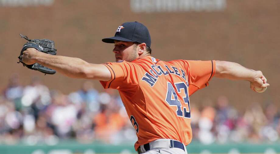 Astros' Lance McCullers joined the company of Dwight Gooden and Bert Blyleven on Wednesday by pitching a complete game as a rookie while striking out at least 10 batters (11) and walking none. Photo: Duane Burleson, FRE / FR38952 AP