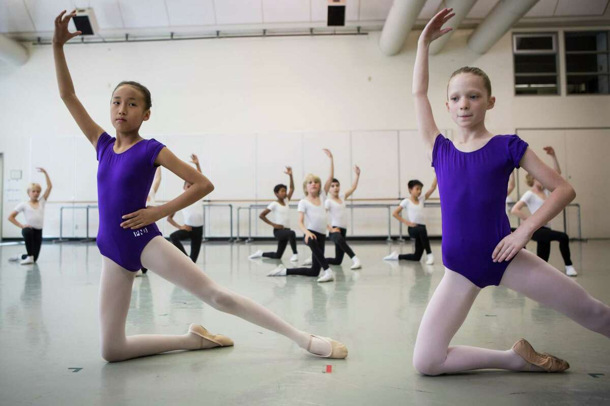 Level 2 students perform during Pacific Northwest Ballet's 21st annual DanceChance Observation Day on Saturday, June 6, 2015. The program offers full scholarships for students to train twice a week with the PNB School. The performance showcased the dancers' hard work for friends, family and supporters of the program.