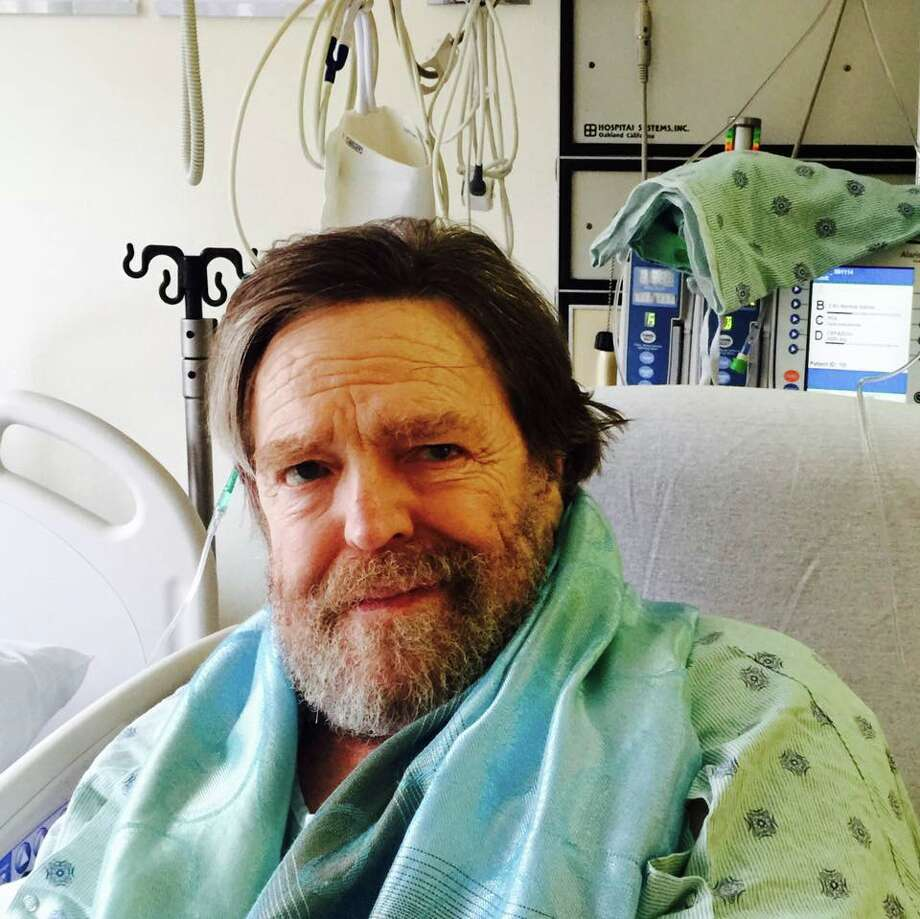 John Perry Barlow, shortly after a heart attack in 2015. Photo via his Twitter account.