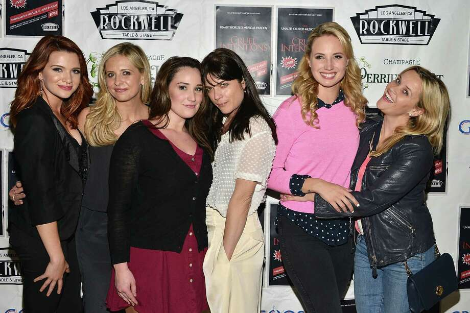 "Katie Stevens, Sarah Michelle Gellar, Emma Hunton, Selma Blair, Molly McCook and Reese Witherspoon attend ""The Unauthorized Musical Parody Of Cruel Intentions"" at Rockwell Table & Stage on May 28, 2015 in Los Angeles. Here is a look back at the cast of the movie, and what they have been up to since. Photo: Araya Diaz, Getty Images / 2015 Getty Images"